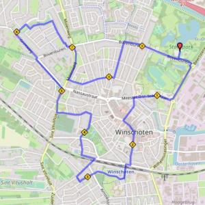 Lengte 9,58 km